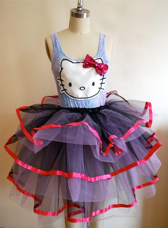 Prom Dress Hello Kitty Tutu Dress by coyotepeyote on Etsy, $250.00 ...