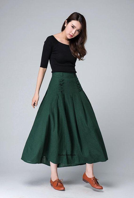 846bb568bd Maxi falda verde