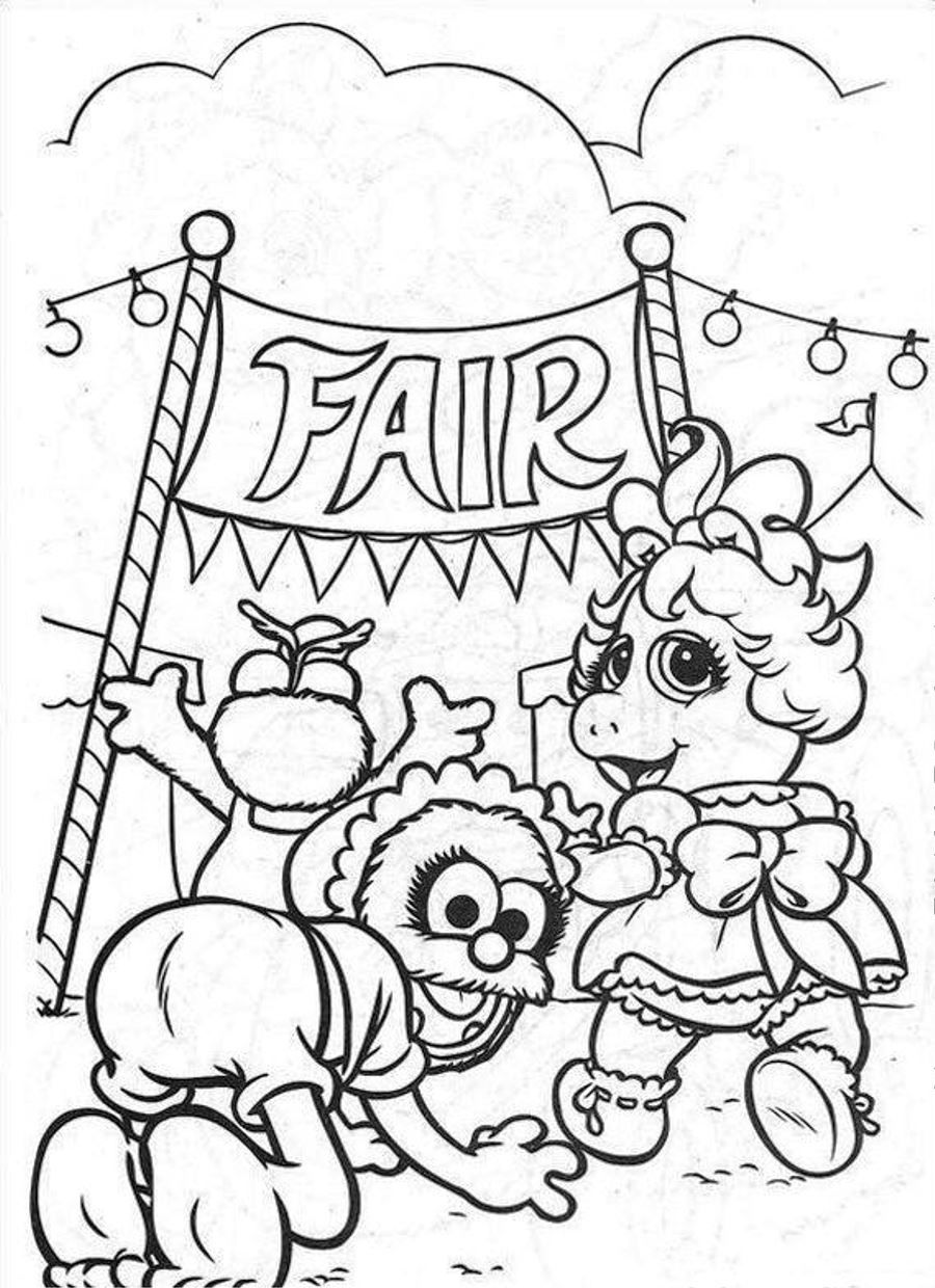 county fair coloring pages sketch coloring page