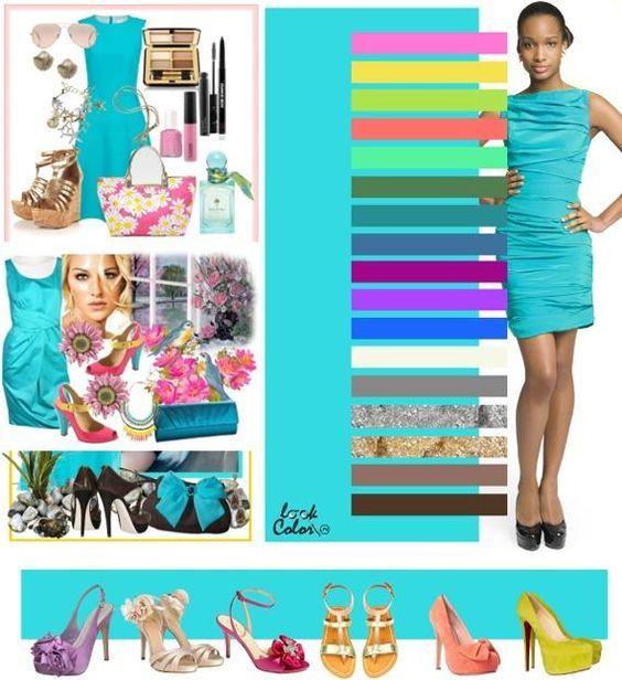 Azul Turqueza Claro Roupas Azul Turquesa Ideias Fashion Combinacao De Cores