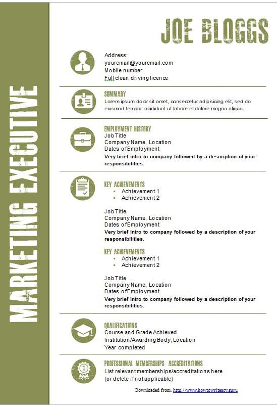 Cv Template Graphical In Sage Green  Cv Template Downloads