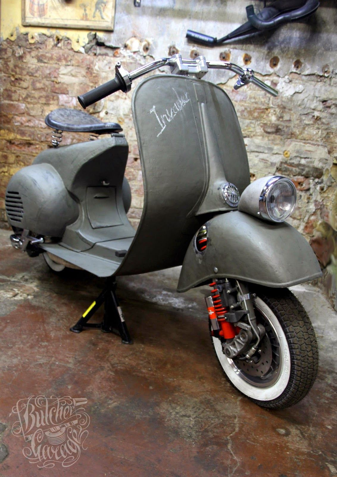 Rocketgarage cafe racer scooters pinterest vespas for Vespa cafe racer