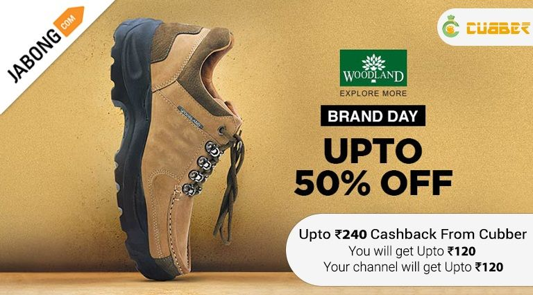 f06163457c Jabong - Woodland Store + UPTO RS.240 CASHBACK FROM CUBBER.#Footwear,