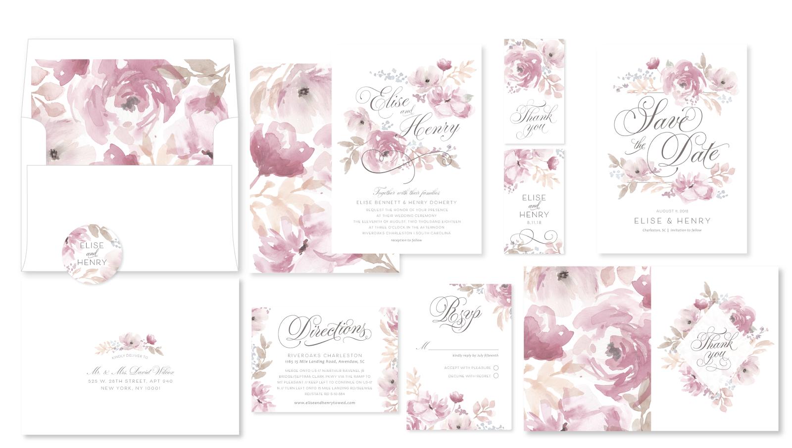 Romantic Blooms Set by Emily Crawford | Elli