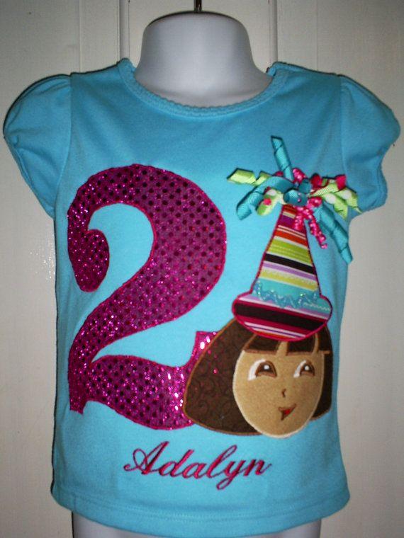 Dora Bling Birthday SHIRT 12mos To A 5t By Whimsicalwardrobe 2800