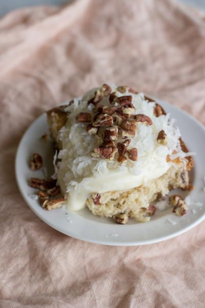 Pecan Praline Cake #pralinecake