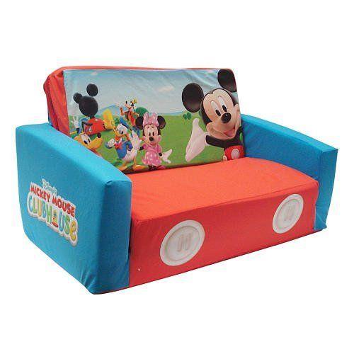 mickey mouse clubhouse flip open sofa with slumber bed ligne roset uk landon's living room furniture disney ...