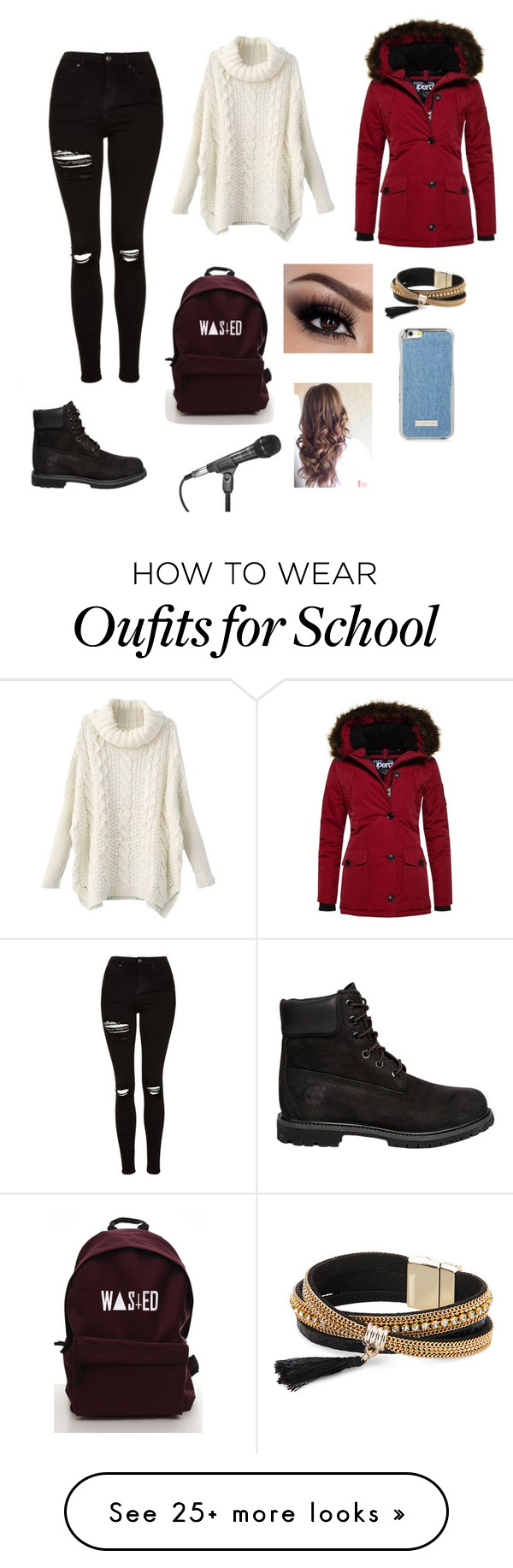 """""""Untitled #1154"""" by catrinel-grigorescu on Polyvore featuring Topshop, Timberland, Superdry and Simons"""