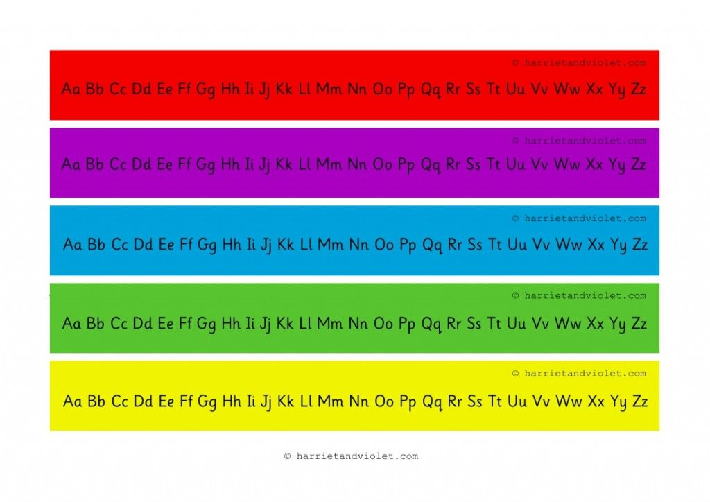 Alphabet Chart A to Z (alphabet strip a-z) Upper and Lower Case