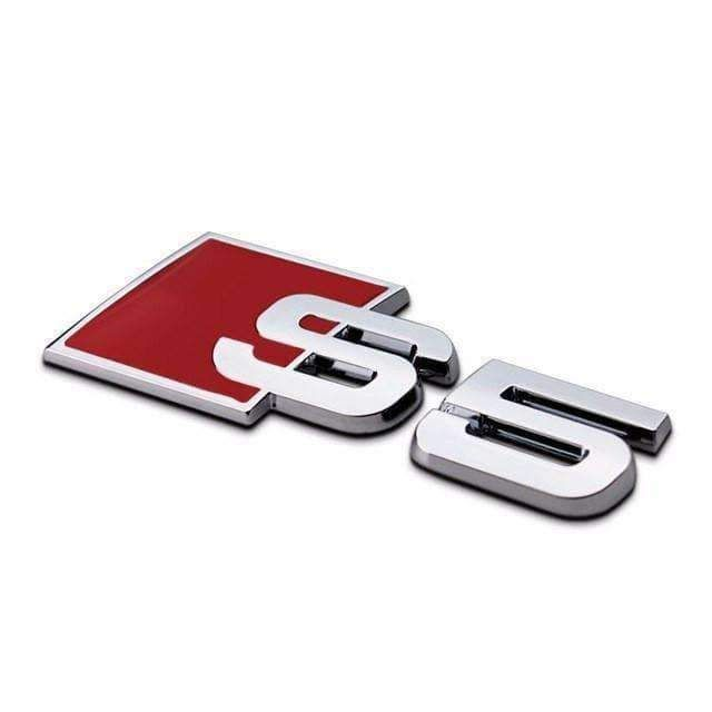 2pcs S Line Metal Silver Badge Sticker Exterior Logo Emblem For Audi All Models