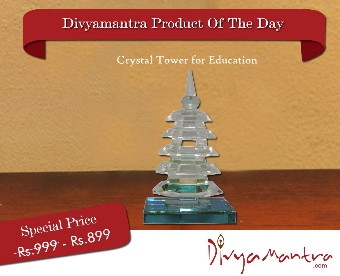 The Crystal Tower of Education is ideal as a feng shui tool to