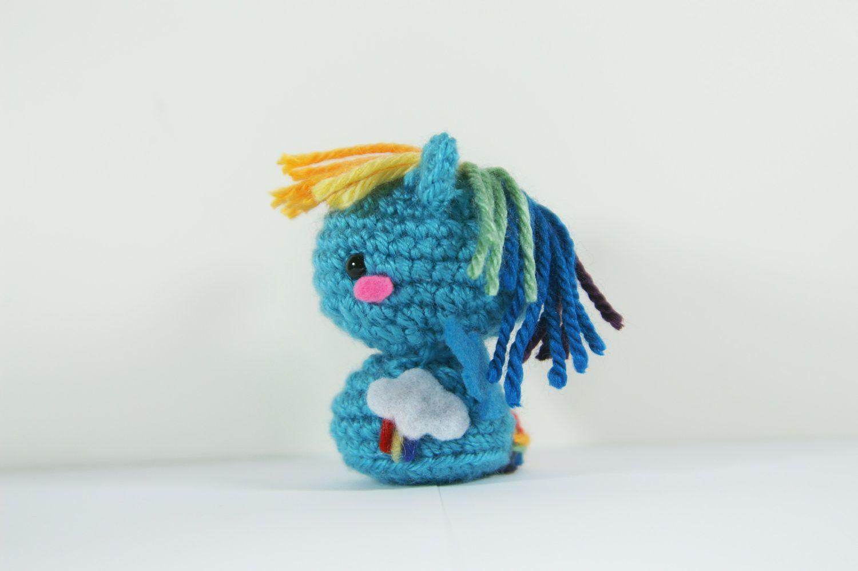 Crochet Rainbow Dash My Little Pony Amigurumi Toy | Pinterest