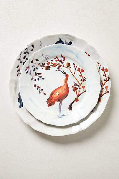 Avian Canopy Dinner Plate. Cause you know. Bird plates. #Anthropologie #PinToWin & Avian Canopy Dinner Plate. Cause you know. Bird plates ...