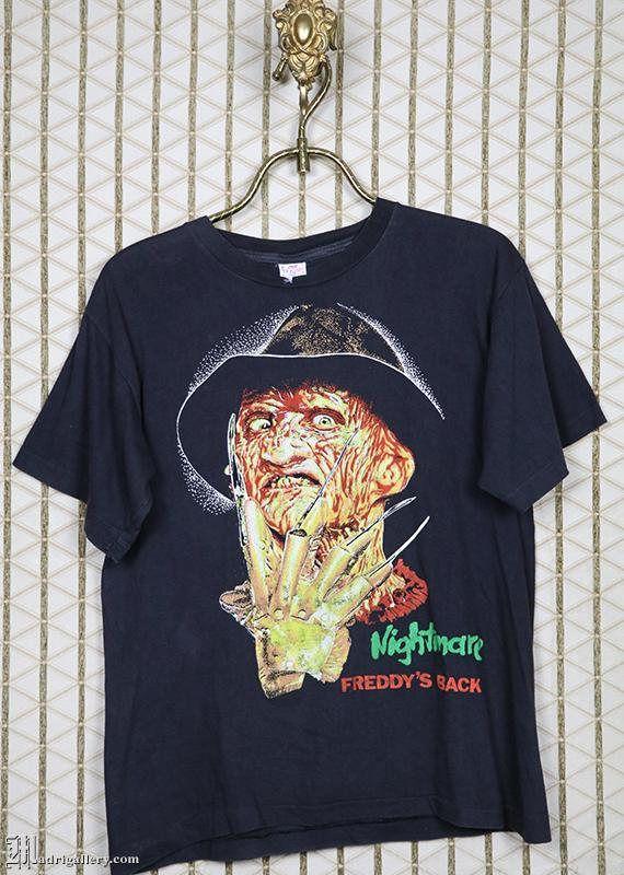 6ba4d928 A Nightmare On Elm Street horror movie t-shirt, vintage rare faded black tee  shirt, Freddy Krueger,