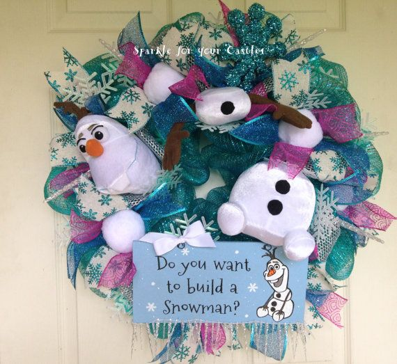 olaf  frozen  christmas wreath  do you want to build a