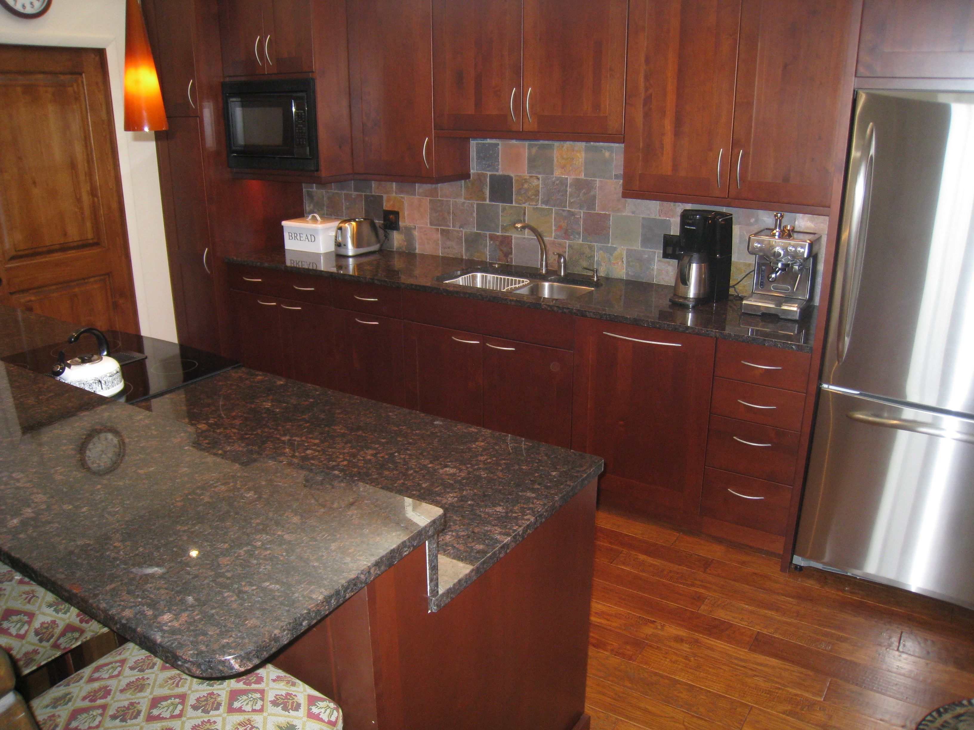 Granite Kitchen Floors Oak Cabinets And Hardwood Floors From Painted Dark Oak Cabinets