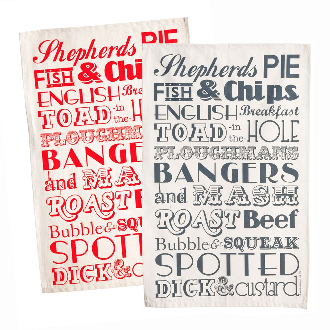 Britische Küchenutensilien English Dinner Tea Towels Available From Things British