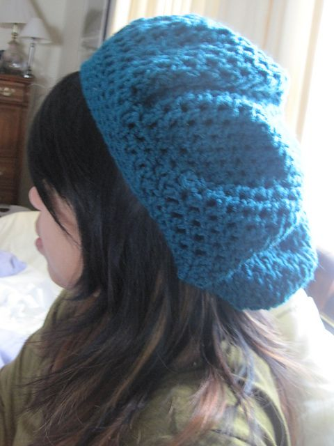 Easy Slouchy Beret Hat Crochet Pattern by Donna Rutledge-Okoro view  MissZsa s Turquoise Slouchy Beanie © MissZsa  Free pattern 4c9ec73ecd6