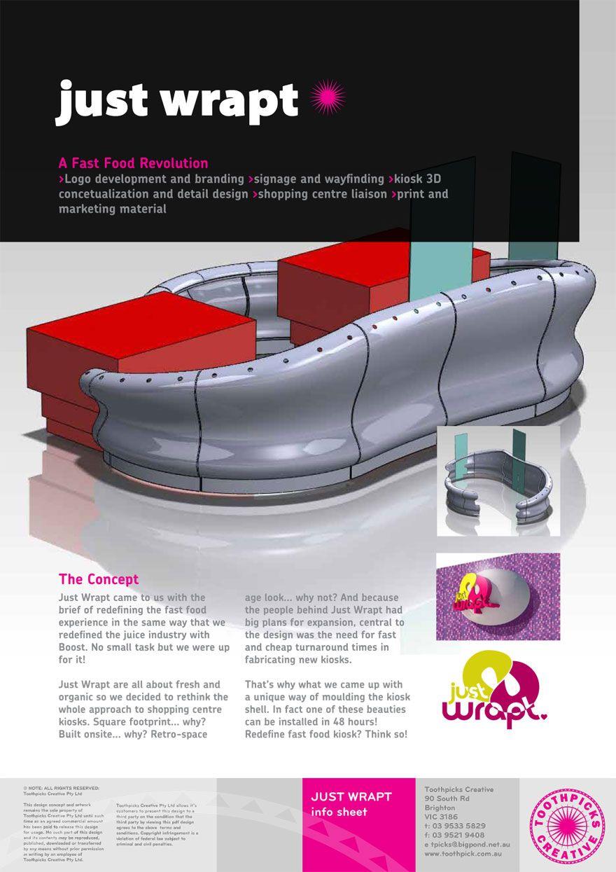 Just Wrapt cutting edge kiosk design | Mobile shop | Kiosk