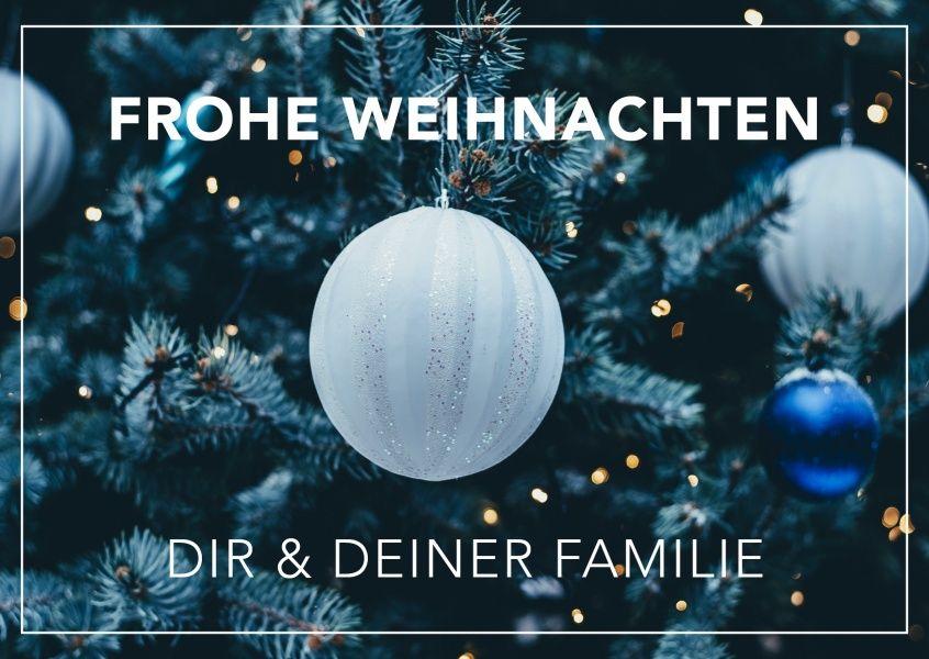 Frohe Weihnachten Wünsche Ich Dir Und Deiner Familie.Frohe Weihnachten Dir Deiner Familie Christmas Cards