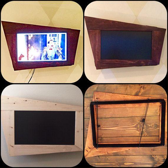 Flat Screen Tv Retro Wood Frame Vintage Style By Lonesomeburro Framed Tv Diy Frame Flat Screen