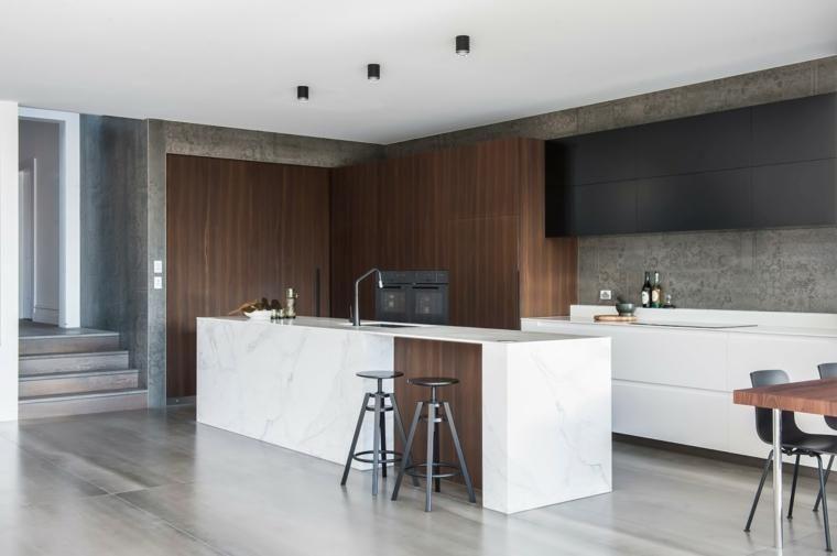 Küchenarbeitsplatten - 66 unglaubliche Ideen von Marmor - ideen offene kuche wohnzimmer