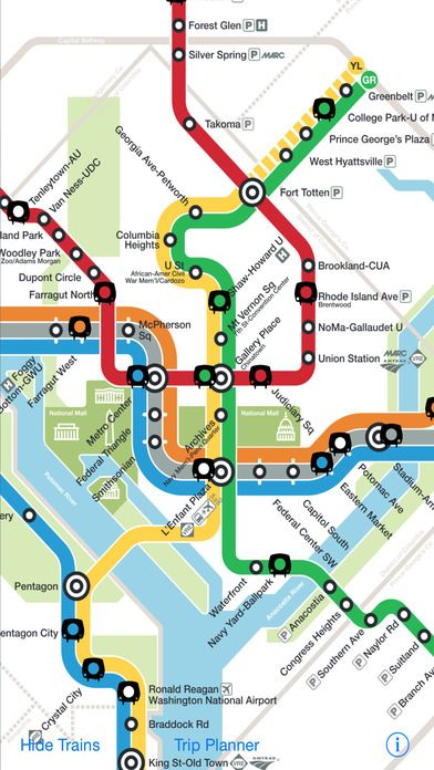Navigate D C With Dc Metro Map App Connection 2017 Washington