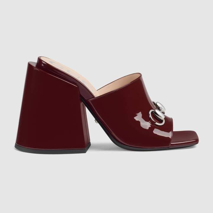 9302327176c Patent  leather  high- heels  slides! The creative act as a dynamic clash  of styles and influences. The revolutionary vision behind the Fall Winter  2018 ...
