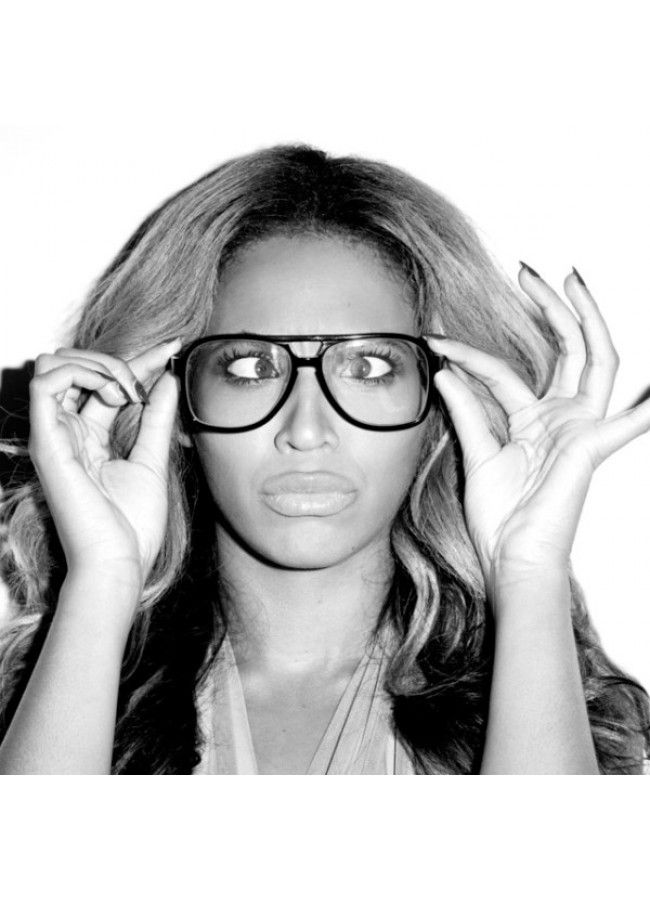 d2f2535835 Beyonce Style Plastic Flat Top Clear Aviator Glasses