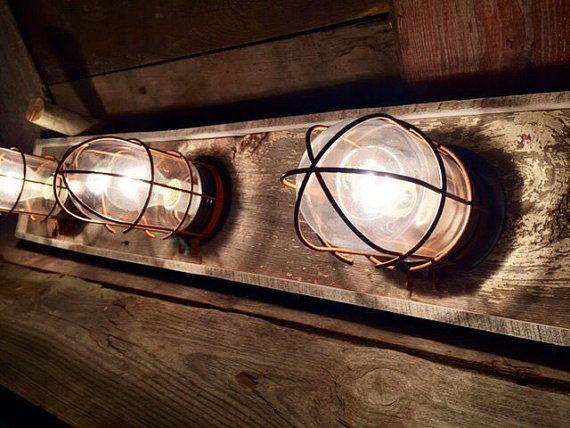 3 Bulb Nautical Beach House Bathroom Vanity Bulkhead Light Fixture Beach House Bathroom Nautical Lighting Beachy Bathroom