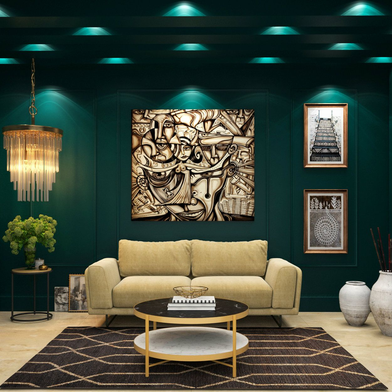 Royal Green That S How You Make Your Living Room Go Bold With This Beautiful Shade Living Room Green Living Room Decor Living Room