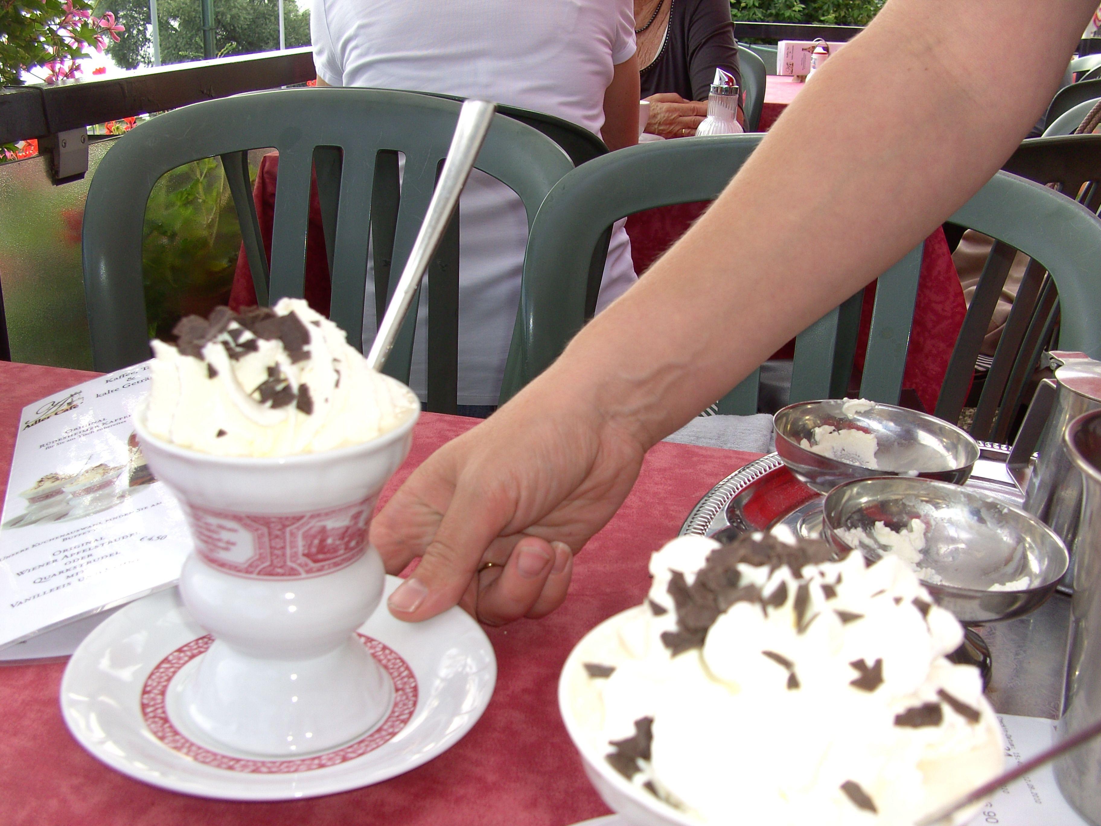 Brandi sugar coffee whipping cream and chocolate truffles