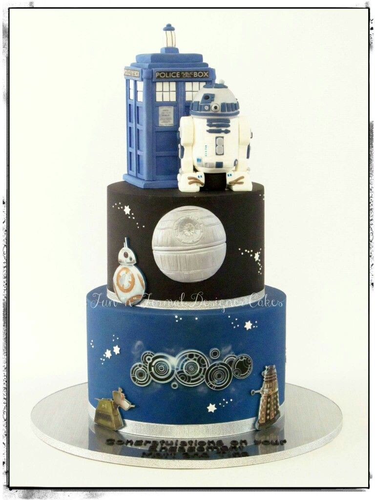 Star Wars And Doctor Who Cake With Images Doctor Who Cakes Dr