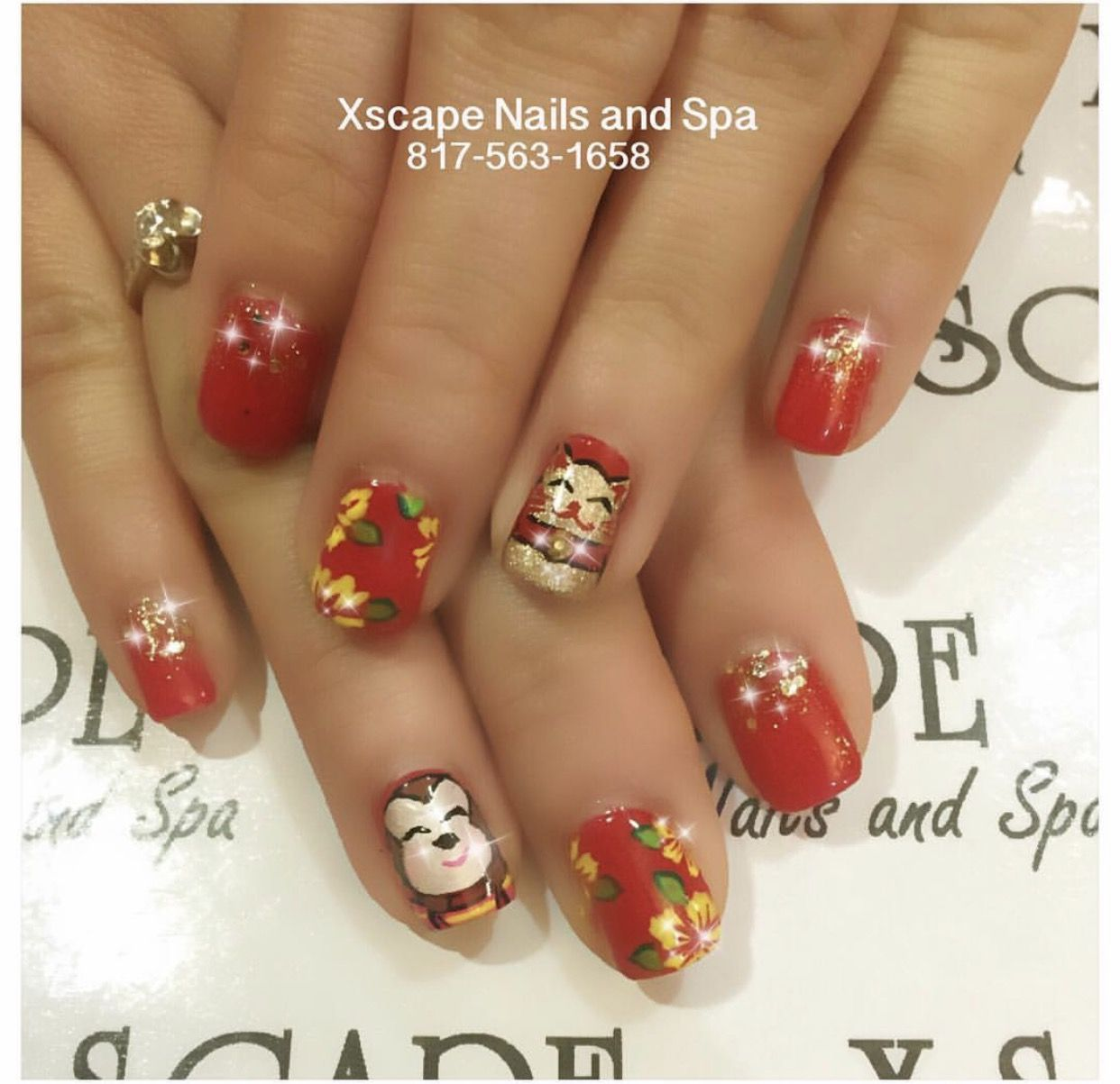 Chinese New Years Nails | Cute Nails Designs | Pinterest