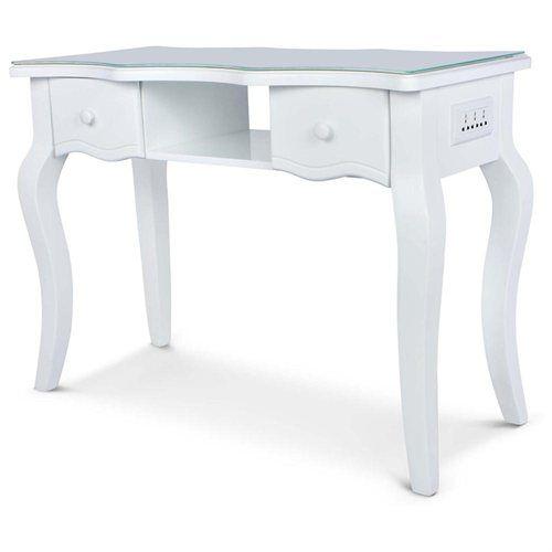 Aurora White Manicure Table Decoracion Para Salon De Unas Ideas Para Salon De Pedicura Ideas De Salon De Unas