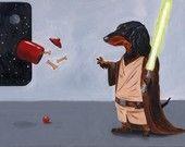 Dachshund Jedi# warrior