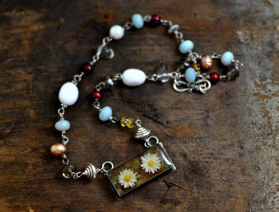 The Spring Garden  Garden Necklace  by Mad Tea by madteagarden, $74.00