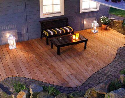 Terrasse Holz Stein Haus Garten Garten Garten Landschaftsbau