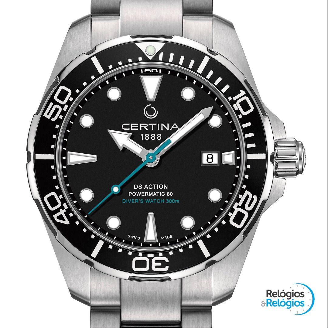 Certina Ds Action Diver Sea Turtle Conservancy Baselworld2018 Caixa Em Aco De 43 Mm Calibre Eta Powermatic 80 795 Watches For Men Classic Watches Watches