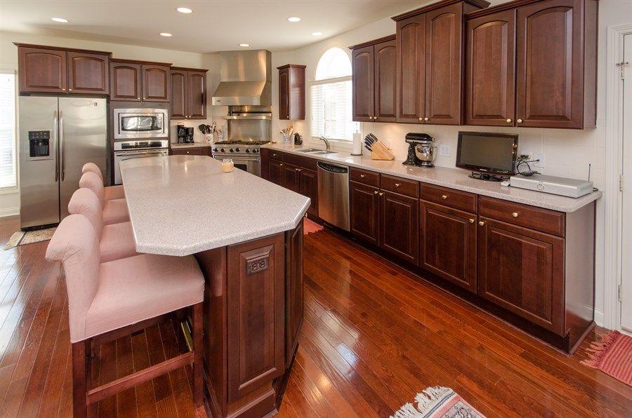 brazilian cherry floor and cherry kitchen cabinets ...