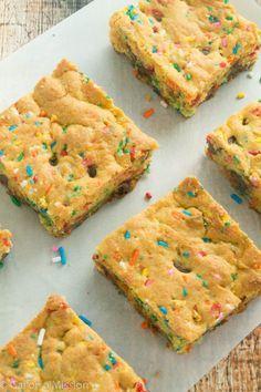 Funfetti Cake Mix Cookie Bars Recipe Funfetti Cake Mix Cookies