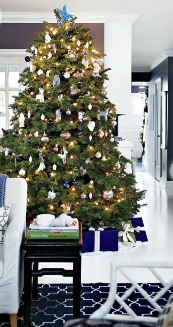 1001 Ideen Fur Weihnachtsbaum Schmucken Weiss Und Silber Als