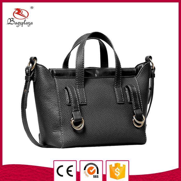 Hd33 090 China Alibaba Black Handbag Las Pu Private Label Handbags