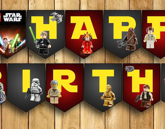 Lego Star Wars Happy Birthday Banner By Instabirthday On Etsy