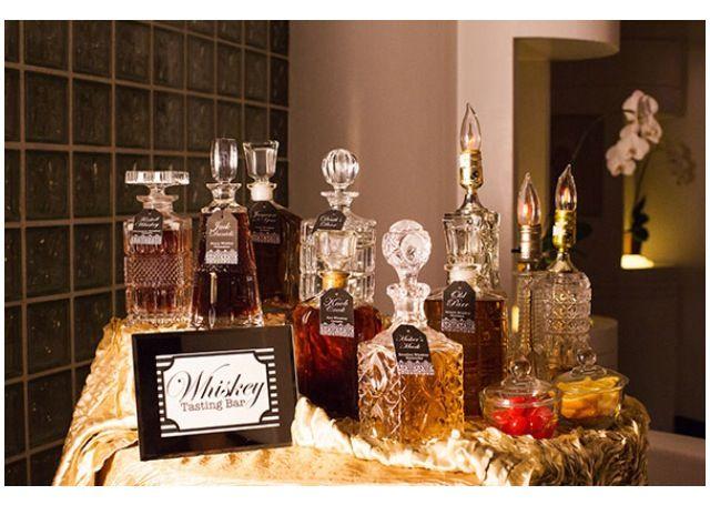 Whisky Bar | Prohibition Wedding | man decor
