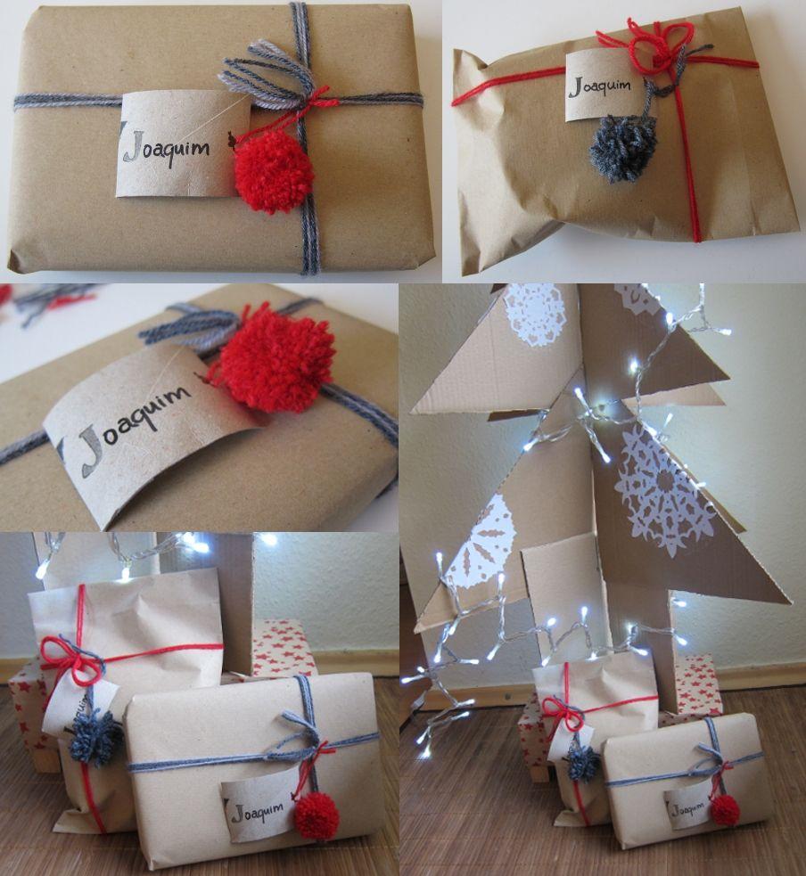 navideas a bajo coste y hechas a mano soporte para el rbol de navidad y cmo he envuelto los regalos
