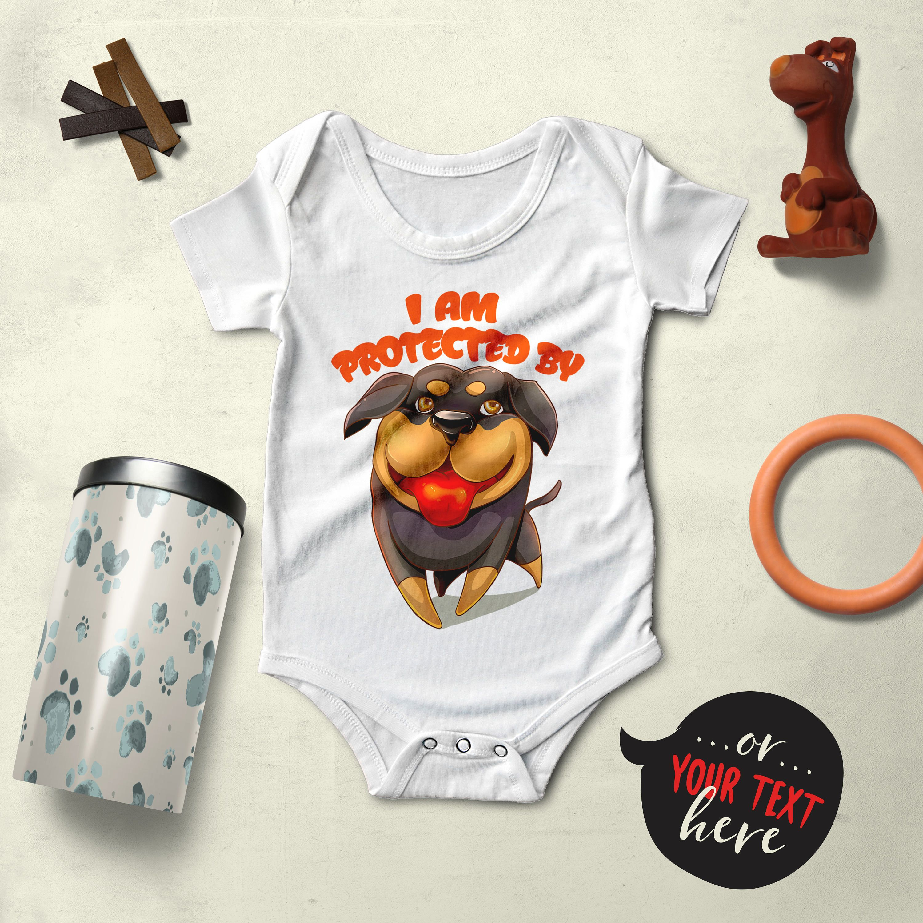 Rottweiler Baby Clothes Baby Bodysuit Dog Dog Baby Clothes Dog
