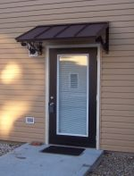 Classic Metal Door Awning black metal powder coat …