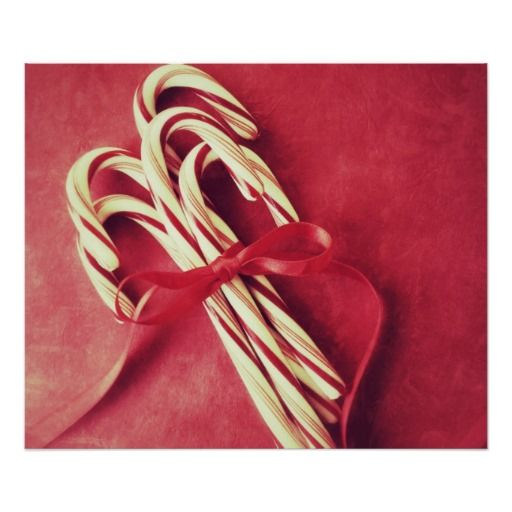 Candy canes print #holidayposter, #Christmasposter, #candycanes, #redandwhite, #zazzle