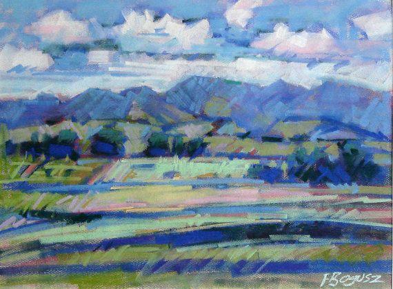 Pastel Impressionist Landscape Painting Colourful Vibrant Bold Composition Via Etsy Painting Art Painting Landscape Paintings